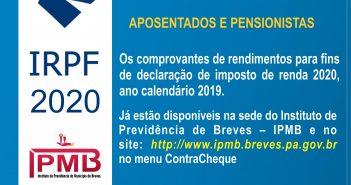 Comprovante de Rendimentos 2019 IRPF 2020